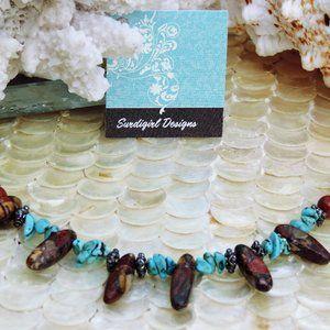 Artisan Surdigirl - Jasper, Turquoise Bracelet